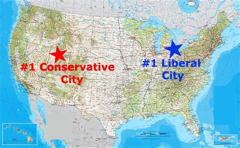 Cheapest City To Live In Usa by Top Conservative And Liberal Cities In The United States
