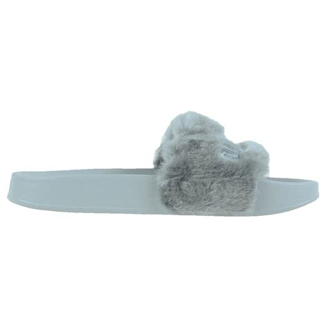 by rihanna leadcat fenty faux fur slide sandals