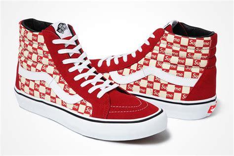 Sepatu Vans X Supreme supreme x vans checker logo pack sneaker freaker
