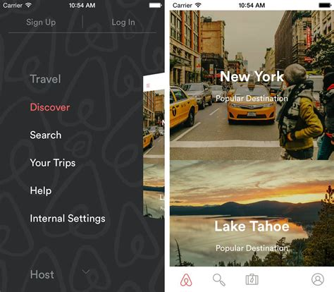 airbnb native navigation behind the scenes building airbnb s first native tablet app