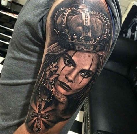 gangsta cross tattoos 38 best portrait tattoos for images on