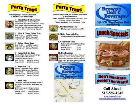 brown deli menu deli menu cover picture of brown s deli hamilton tripadvisor