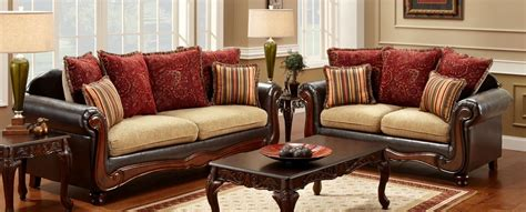 buy furniture of america sm7490 set banstead living room