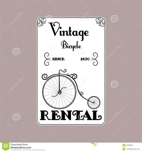 Cyling Vintage Humour Poster Free Stock Photo Public Domain Pictures Rental Bicycle Vintage Black And White Poster Stock Vector