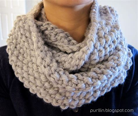free knit scarf pattern purllin december seed stitch infinity circle scarf free