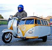 Scooter Mad Dad Builds Van Tastic VW Camper Sidecar To Carry His Son