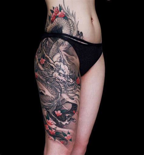 tattoo dragon hip 55 cherry blossom tattoo designs with meaning