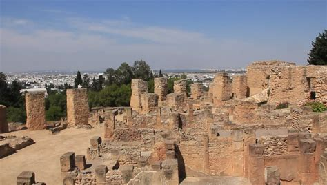 town of babylon section 8 carthage tunisia july 7 2010 people at ruins of