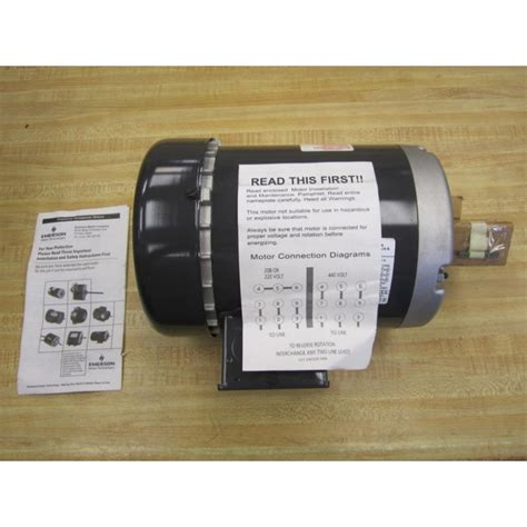 Emerson Electric Motors by Emerson Electric T34s2m Electric Motor R060117q New No