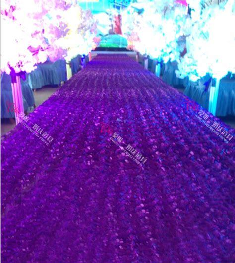 Lavender Wedding Aisle Runner by 10 Meter Cheap Floral Vip Wedding Props