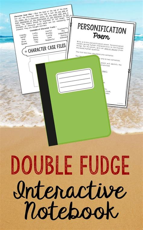 judy blume fudge book report fudge interactive notebook novel unit study