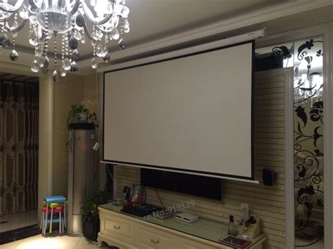World Screen Motorized 100 Inci remote 100 inch motorized projection screen 16 9