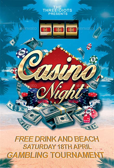 Summer Casino Flyer By Threeidiots Graphicriver Casino Flyer Template Free