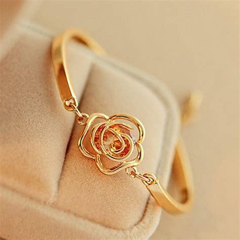 Gelang Bunga Mawar by Perhiasan Gelang Cuff Untuk Wanita Hadiah Model Rantai