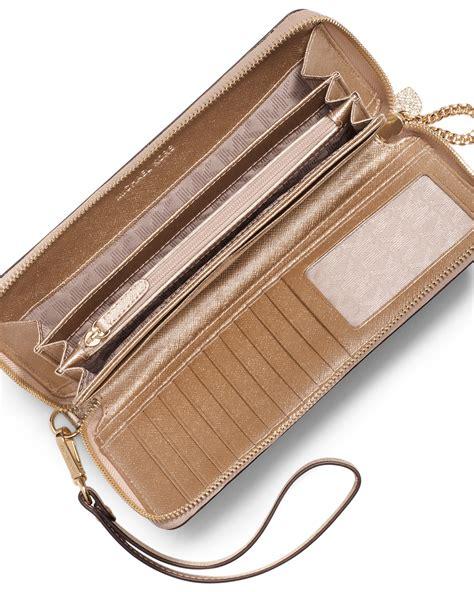 Walet Premium Gold Walet Gold michael kors continental wallet wristlet mk outlet