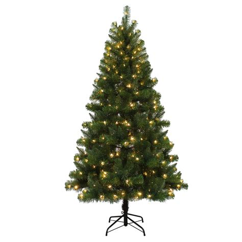6 5 ft pre lit artificial christmas tree with color