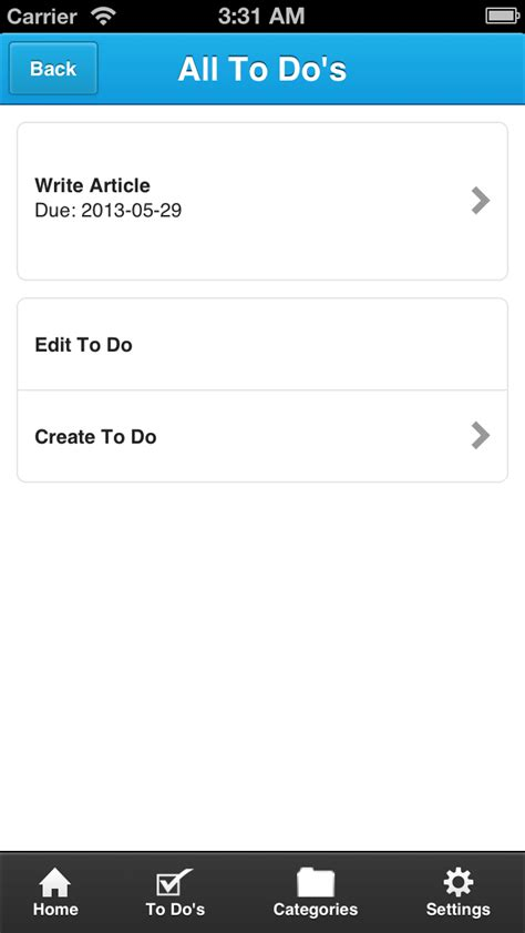 phonegap ui template exle a to do list app using html javascript and the