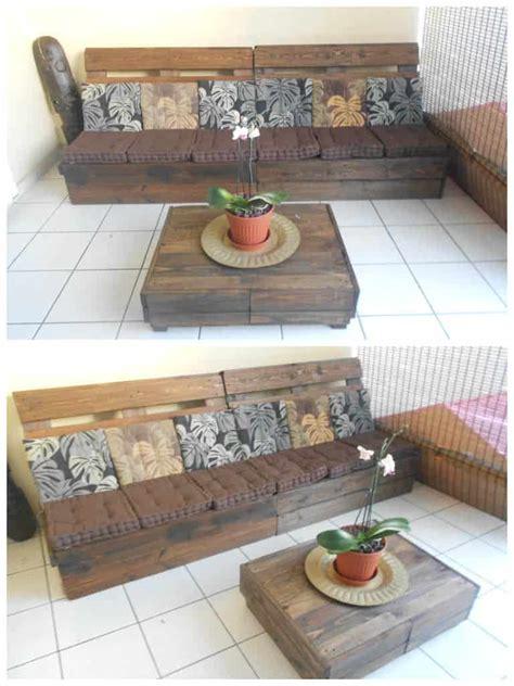 canape en palette canap 233 table basse en palettes pallet sofa coffee