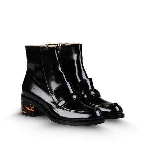 stella mccartney boots lyst stella mccartney loafer boot in black