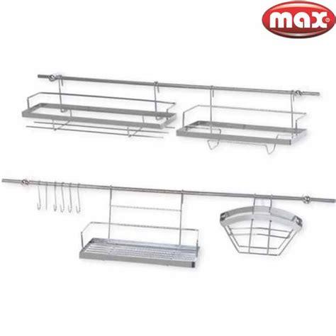 porta mensole in acciaio barre portautensili mensole da cucina con ganci e cestini