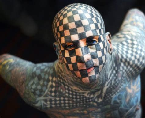 Tattoo face   Weird & Wonderful Pictures Of The Week   1st