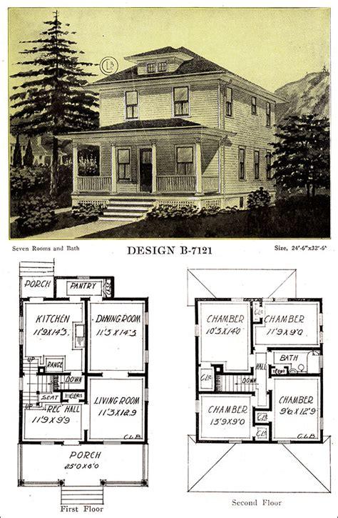 wh floor plan 1918 free classic foursquare c l bowes chicago