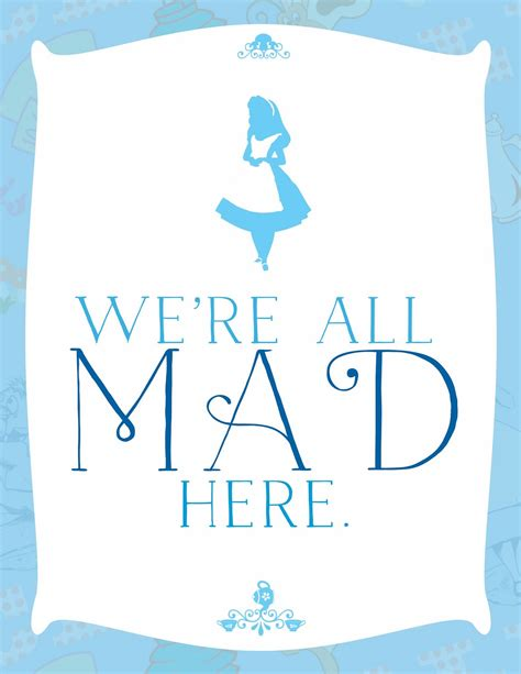 Printable Pictures Alice In Wonderland | printable alice in wonderland quotes quotesgram