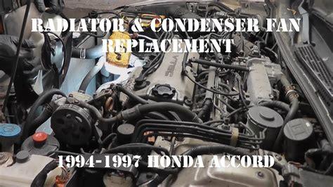 1997 honda accord cooling fan 1994 1997 honda accord radiator fan and condenser