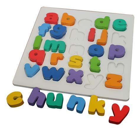 Puzzle Knob Perkalian Bahan Kayu puzzle chunky alphabet huruf kecil mainan kayu