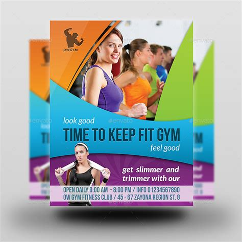 flyer design for gym fitness gym flyer template vol 3 by owpictures