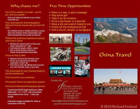 travel brochure template free download sample travel brochure 4