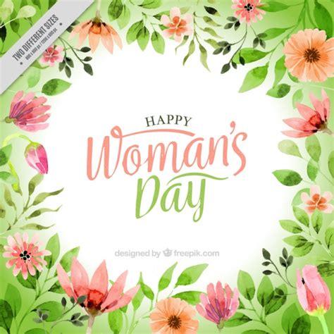 fiore della donna acquerello sfondo fiore della donna scaricare vettori gratis