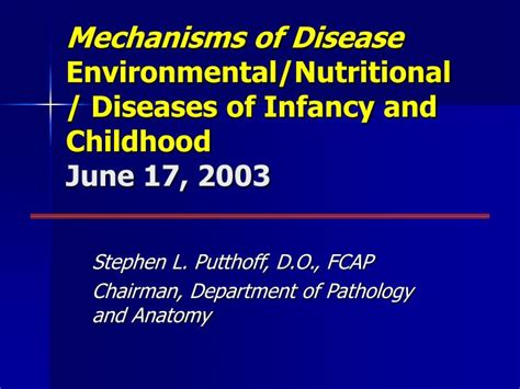 the diseases of infancy and childhood for the use of students and practitioners of medicine classic reprint books ppt mechanisms of disease environmental nutritional