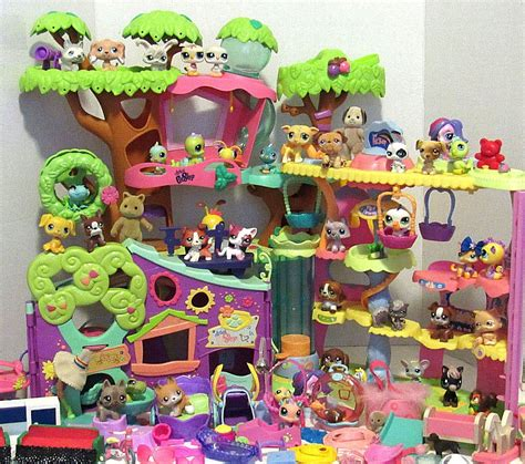 littlest pet shop houses huge lot littlest pet shop lps houses pets accessories collie dog shorthair cats