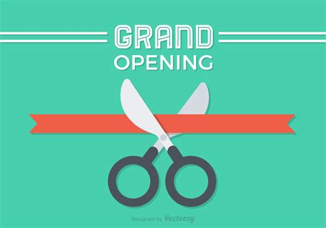 Free Flat Ribbon Cutting Vector Design   Download Free