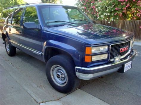 buy car manuals 1998 gmc suburban 2500 electronic throttle control buy used 1998 gmc suburban 2500 sierra sle 4x4 cold a c 3rd seat l k in sacramento