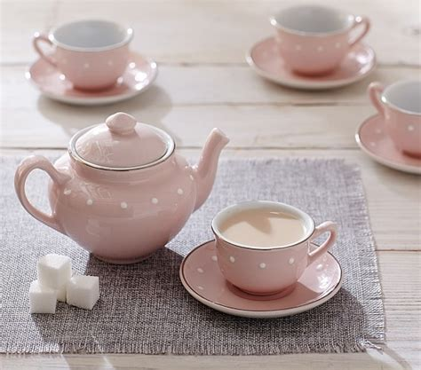 Classic Lovely Tea Sets by Pink Ceramic Classic Tea Set Pottery Barn