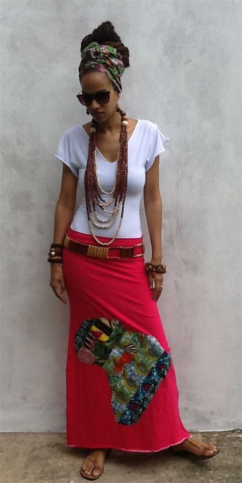 Tatia Maxi i afrika patchwork maxi skirt ankara kente by
