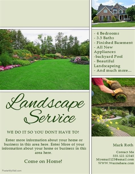 landscaping flyers templates landscaping template postermywall
