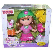 Fisher Price Snap N Style Wardrobe by Fisher Price Snap N Style Doll Colors May Vary