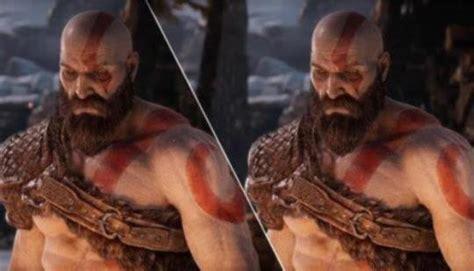 god  war graphics comparison ps  ps pro ng