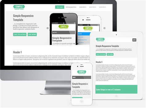 responsive design templates free simple responsive template template for responsive web