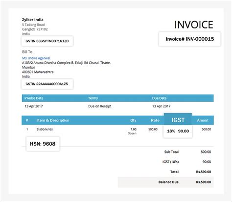 invoice format under service tax rules gst invoicing gsthero