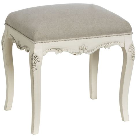 shabby chic country dressing table stool bedroom