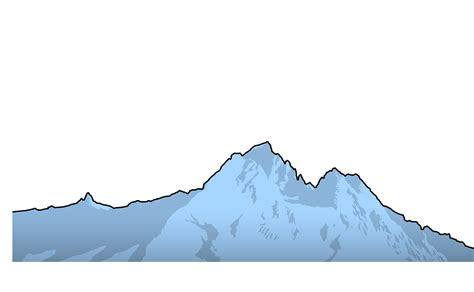mountain clipart mountain profile clipart clipartxtras