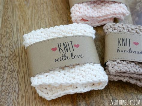Handmade Knitting Labels - free printable knit gift labels