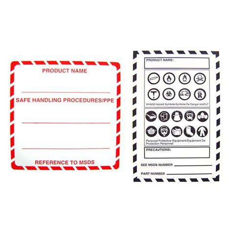 whmis labels template whims labels