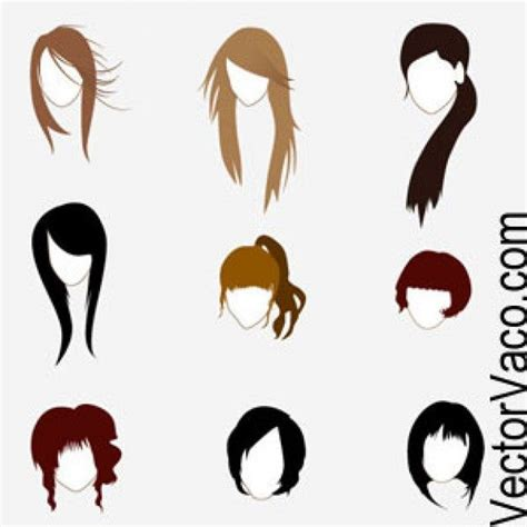 Cartoon Hairstyles Vector | hairstyles cartoon google search cartoon hairstyles