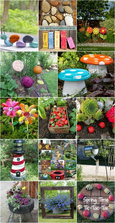 30 adorable garden decorations to add whimsical style to your lawn diy crafts