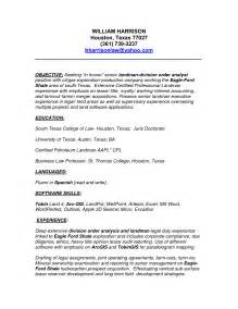Take A Look At Our Landman Resume Examples Esample